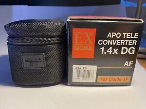 Sigma APO Teleconverter 1.4x DG for Canon - Immaculate condition