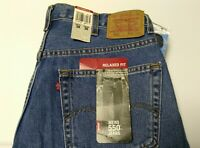 New Levi's Jeans Denim 550 38x36 Relaxed Fit Long Blue Tall Pants Made In USA