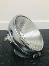 "8"" Chrome Miller Headlamp Headlight dome glass bsa triumph norton matchless ajs"