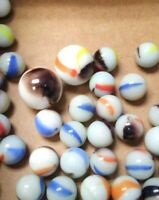 """LOT of MARBLES and TWO 1"""" SHOOTERS  - Vintage!"""