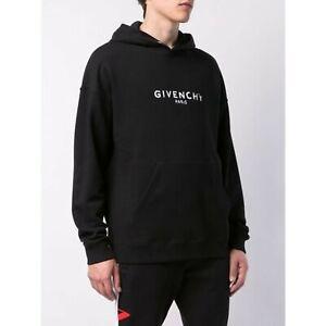 Givenchy Paris Black logo Hoodie Neu Size S (Oversized Fit)