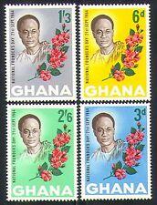 Ghana 1964 Nkrumah/Flowers/Politics/Nature 4v (n32202)