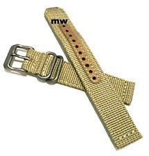 Genuine 18mm Seiko Strap Model 4K10JZ Beige Nylon Strap Band Watch Model SNK803