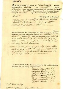 """1828 Early Am-Doc>INQUISITION OF MICHAEL RUSSELL """" DEATH BY VISITATION OF GOD"""""""