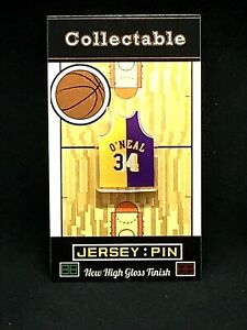 Los Angeles Lakers Shaquille O'Neal jersey lapel pin-aka...DIESEL Collectable