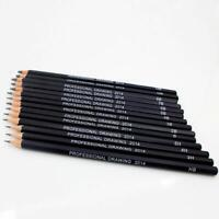 Pro 14 Fine Art Drawing Non-toxic Oil Base Pencils Set For Artist Sketching BR