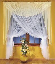 Amazing Set - Organza Net Curtain with Cream Voile Scarf Valance 250cm x 250cm