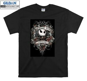 Nightmare Before Christmas T-shirt Jack Fear T shirt Men Women Unisex Tshirt 325
