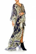 new CAMILLA FRANKS SILK SWAROVSKI A LITTLE PAST TWILIGHT SPLIT FRONT KAFTAN