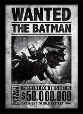 Batman Arkham Origins Wanted - Framed 30 x 40 Official Print