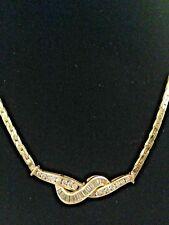 """Fine Baguette & Round  Diamond  18"""" Necklace,  Dia-1.24CT, Gold-14K -20.33Gr"""
