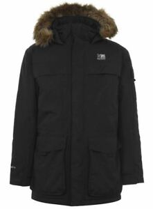 KARRIMOR Mens Black Chatsworth Waxed Unquilted Jacket Coat Various Sizes BNWT