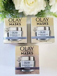 **3 Pack Value** Olay Masks Overnight Firming Gel Mask w/ Vitamin A