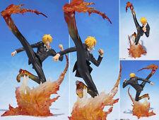 Japan Anime Figuarts ZERO One Piece Sanji DX Battle Figure Figurine 17cm NoBox