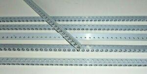 """5 Stk. Dzus Rail, 1/4"""" Länge von 100mm bis 1400mm, Alu- Montage- Winkel/ Schiene"""