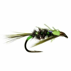 Diawl Bach UV Olive Unweighted Nymph - Size 10 - Trout Fly Fishing