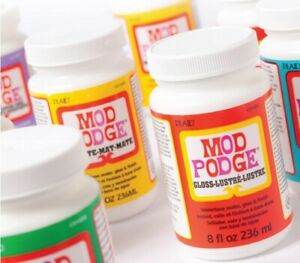 Mod Podge Decoupage Glue Sealer Varnish Paper Art and Craft Paper Crafts Matte