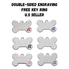 Bone Dog Tags Pet Tag Cat Charm Engraved Personalized