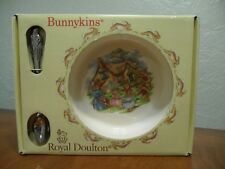 Royal Doulton Bunnykins Nursery Set Two Piece Baby Plate/Bowl and Spoon New
