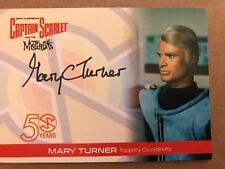 CAPTAIN SCARLET AND THE MYSTERONS 50 YEARS: AUTOGRAPH CARD: MARY TURNER MT2