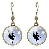2x orecchini orecchino pendente bigiotteria donna BALLERINA danza classica ballo