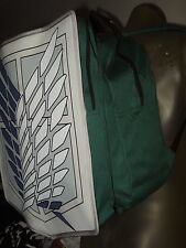 Nwt Attack on Titan Scout Legion Regiment Wings Anime School Backpack Book Bag