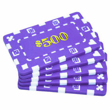 20 Purple $500 32g Rectangular Square Poker Chips Plaques - Buy 2, Get 1 Free