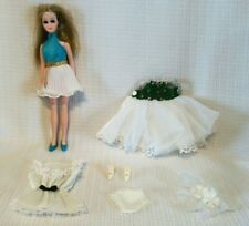 Vintage Topper DAWN Doll with Original Dress & Squishy Shoes PLUS Extras -1970