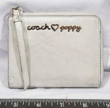 Coach Poppy White Leather Clutch Wallet tthc