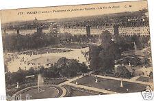 75 - cartolina - PARIGI - Panorama il giardino di Tuileries et la rue de Rivoli