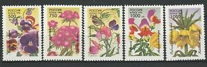 Russia 1996 Flowers 5 MNH Stamps
