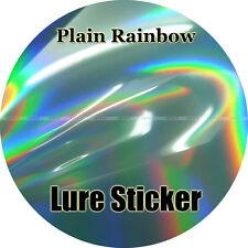Plain Rainbow, Holographic, 20pcs Jig and Lure Sticker, Fishing, 15cm x 9cm