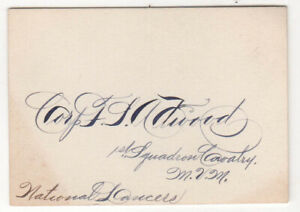 CORP ATWOOD Massachusetts MVM Militia 1ST SQUADRON CAVALRY National Lancers