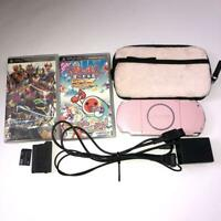 Sony PlayStation Portable PSP Blossom Pink 3000 ZP BOX Console Charger Good Used