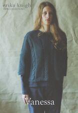 Erika Knight Ladies Sweater Knitting Pattern Vanessa In DK (British Blue 100)