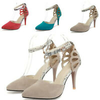 New Ladies Party Light Pumps Stitching Colored Stiletto Heel Party Casual Shoes