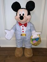"""Disney Mickey Mouse SPRING """"Porch Greeter"""" -- 24"""" Holding Basket w/Eggs"""