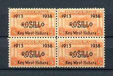 1938.REP.CUBA EDIFIL 329**.BLOQUE DE 4.SIN FIJASELLOS(MNH) 44€