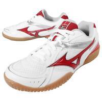 Mizuno Crossmatch Plio RX3 White Red Mens Table Tennis Shoes Indoor 81GA16-3062