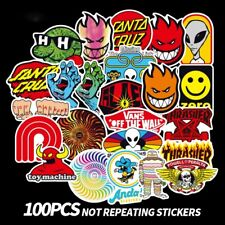 100 Pcs Skateboard Fashion brand Logo Waterproof Sticker For Luggage Car
