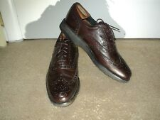 Dexter Mens Wingtip Brown Leather Shoes size 9 1/2 D Made In U.S.A.
