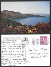 1965 California Postcard - Soda Bay and Horseshoe Bend in Clear Lake