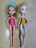 Ever After High Dolls (2) Ashlynn Ella and Apple White, play, display or OOAK