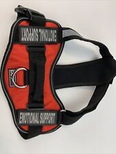 New listing Dogline Vest Harness With Removable Emotional Support Patches, Adjustable Straps