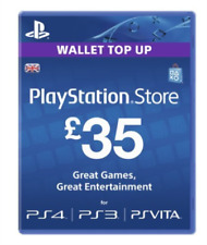 Sony PlayStation Network PSN Card 35 GBP Code Key Ps3 Ps4 PSVITA UK