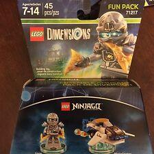 LEGO Dimensions Fun Pack 71217 -  NINJAGO Zane & 3 in 1 NinjaCopter (NIB)