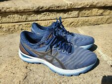 ASICS MENS GEL NIMBUS 22 RUNNING SHOES BLUE / GREY - UK SIZE 9.5 - LITTLE USE