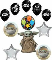 Star Wars Mandalorian the Child Birthday Party Supplies Baby Yoda Balloon Bou...