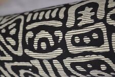 The Black Coloured Indian Hand Block Print Fabric 100% Cotton Crafting 20 Yard