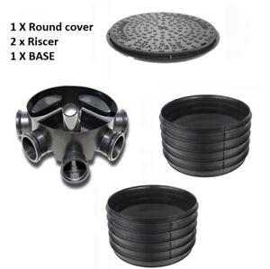 Amazon Civils 450mm Inspection Chamber Manhole - Base, 2 Riser, Cover & Frame